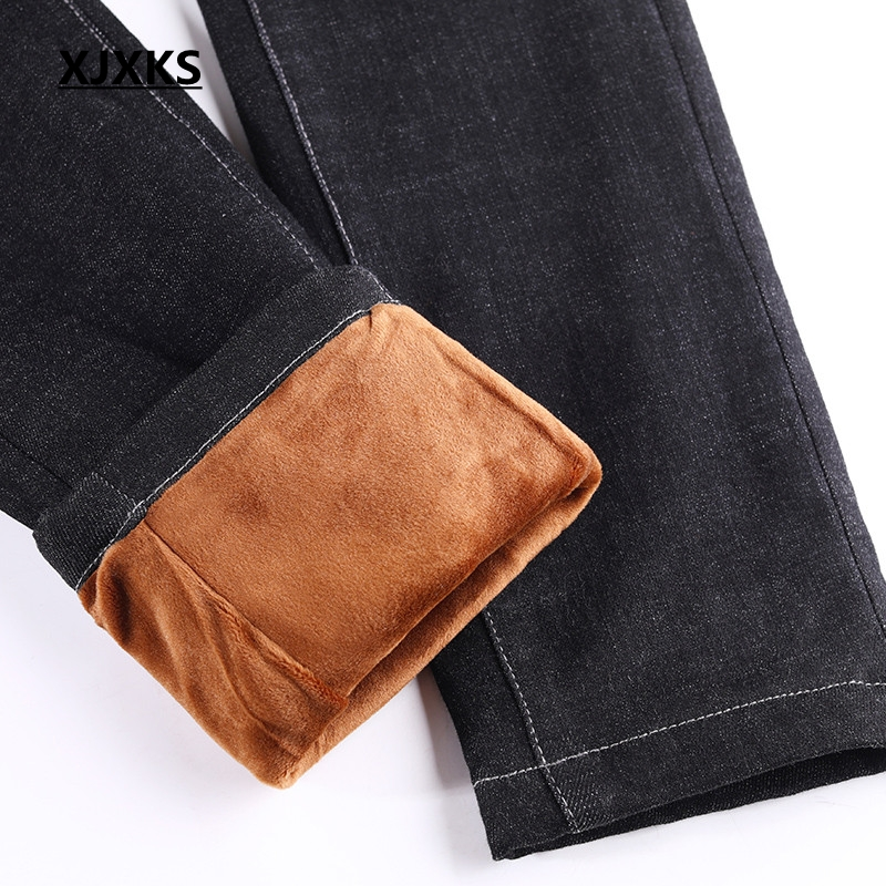 Taille Avec Hiver Épais Automne Qualité Nouvelle Arrivée Femmes Noir Haute Élasticité Pour Xjxks Poches Pantalon Bonne Jeans 2019 Ag1qwn7