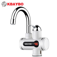 3000W Tankless Water Heater Shower Instant Electric Water Heater Kitchen Instant Hot Water Heaters Faucet Free
