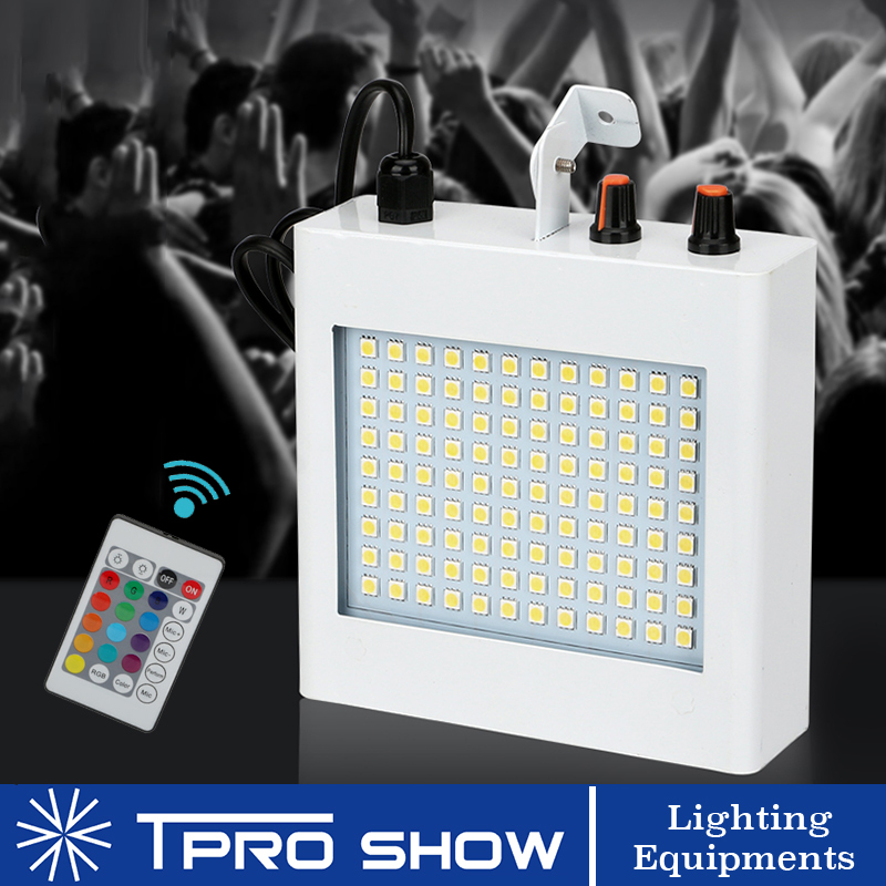 108 LED Light Flashing Stage Lights Music Activated Disco Lights Remote White RGB Colors For DJ Party Wedding KTV Strobe Lights