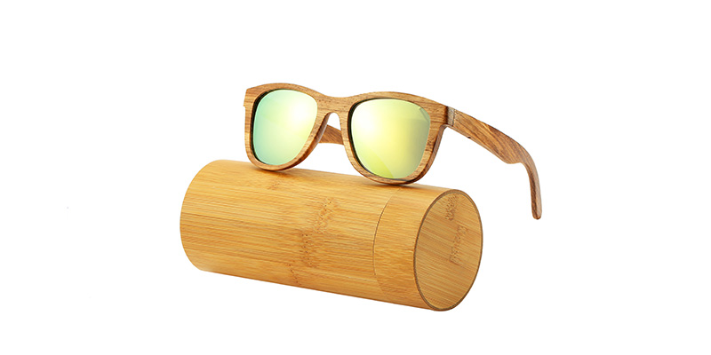 AN SWALLOW New 100% Real Zebra Wood Sunglasses Polarized Handmade Bamboo Mens Sunglass Sun glasses Men Gafas Oculos De Sol Mader 7