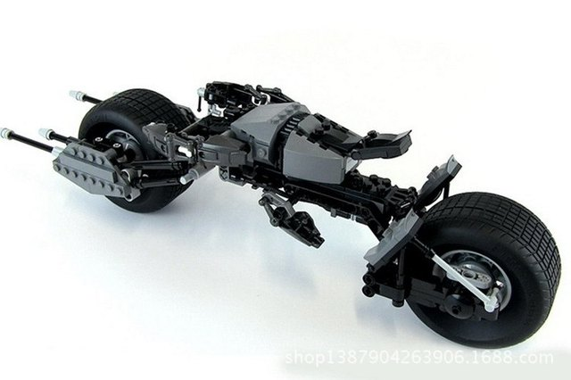338pcs Decool 7115 Super Heroes The Dark Knight Batman Batcycle