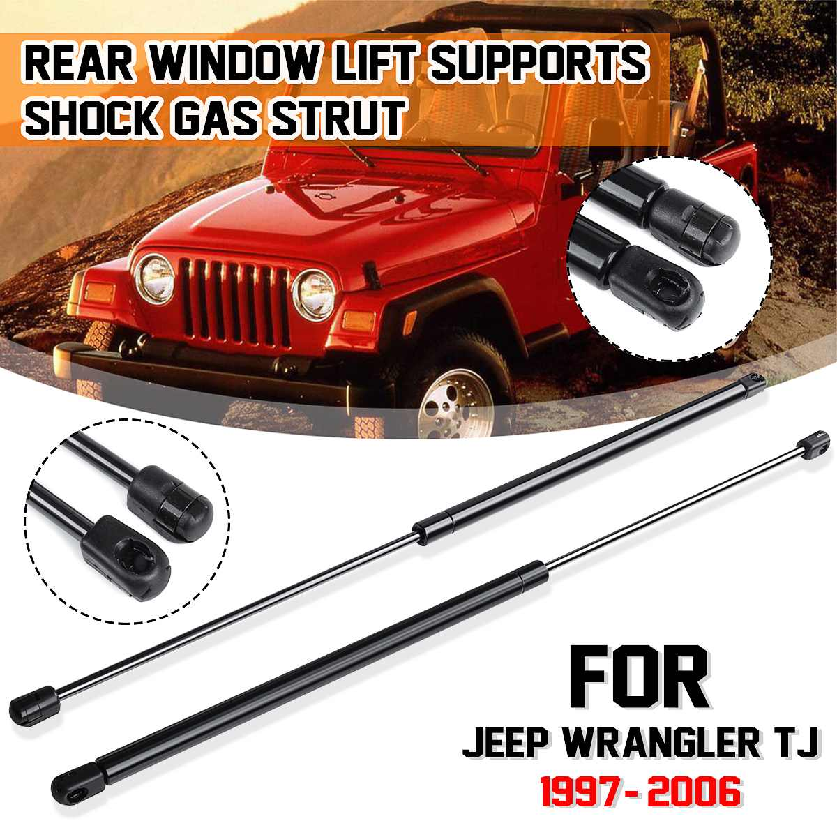 1Set Gas Charged Lift Support Strut Fits Jeep Commander Rear Window Glass