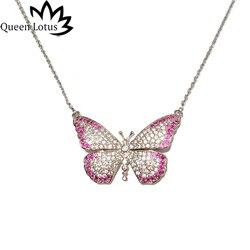 Queen Lotus 2018 nueva moda de lujo de las señoras mujeres largo collar largo choker girl ropa de regalo colgantes del collar