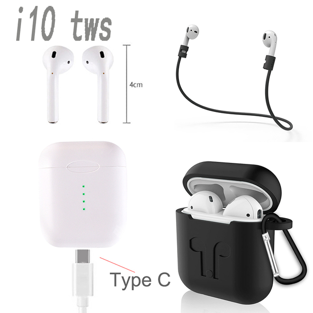 US $13 03 31% OFF|New I10 TWS i7s i9s bluetooth 5 0 sports wireless  binaural touch with charging bin with wireless charging air pods  earphone-in