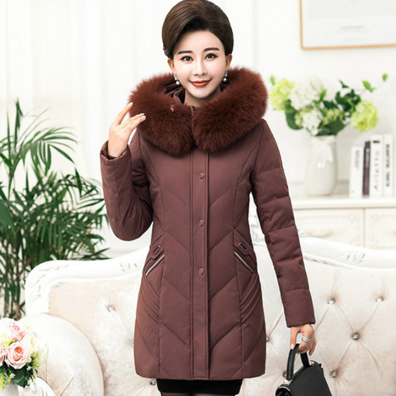 Thicken Hooded Detachable Cotton Coat Oversized Women Winter Jacket -30 Degrees Jackets Warm Down Cotton Coat   Parka   RE2504