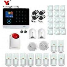 Yobang Security Wireless SIM GSM Home RFID Burglar Security LCD Touch Keyboard WIFI GSM Alarm System Sensor kit