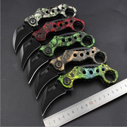 Camping Tool Slaughter Fade Counter Strike Karambit Handmade Knives Hunting Fighting Tactical Survival Knife S003