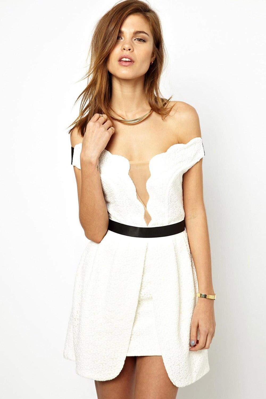 Aliexpress.com : Buy Thre*flo*r Summer Dress 2015 sexy white ...