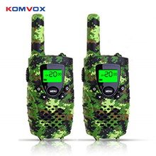 Mini portátil crianças walkie talkie pmr46mhz 8/22ch rádio em dois sentidos display lcd fashlight com usb charing jack para presentes das crianças