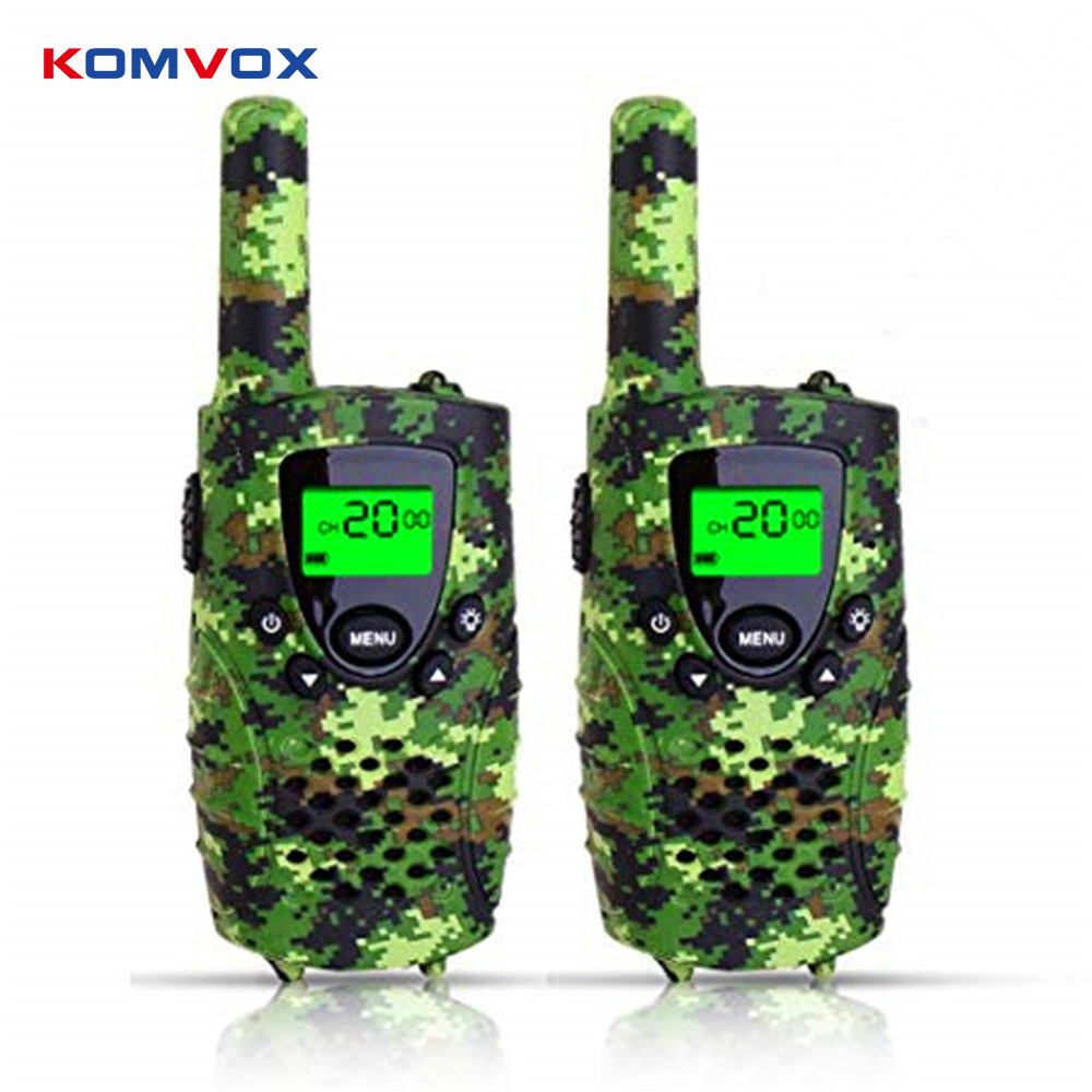 Portable Mini Kids Walkie Talkie PMR446MHZ 8/22CH Two way Radio LCD Display Fashlight with USB Charing jack for Children Gifts