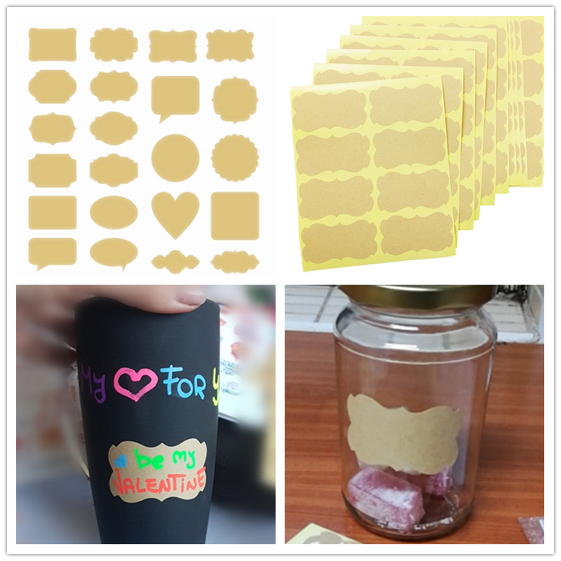 48 Pcs/lot Handmade Sticker Vintage Blank Kraft Label Sticker DIY Hand Made For Gift Cake Baking Sealing Sticker