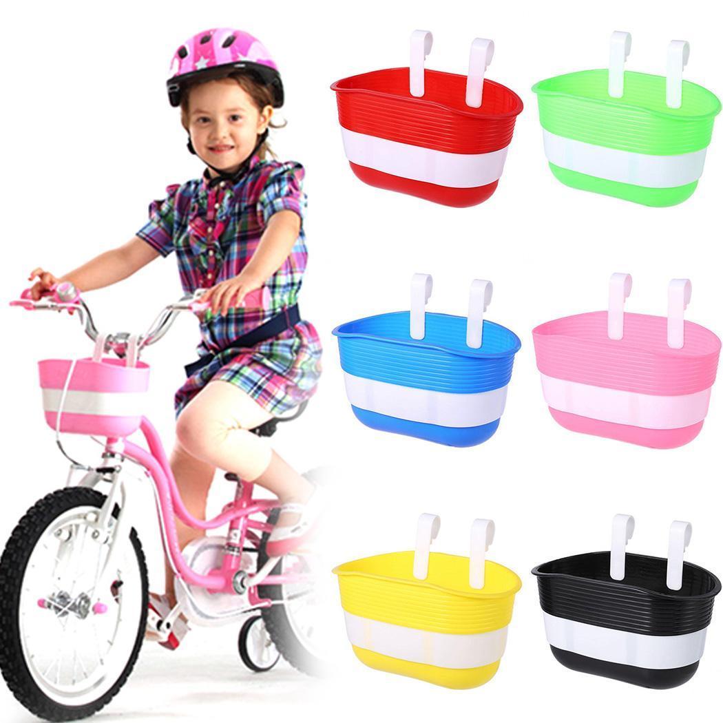 children/'s bike basket plastic bicycle bag kids scooter handle bar basket JB