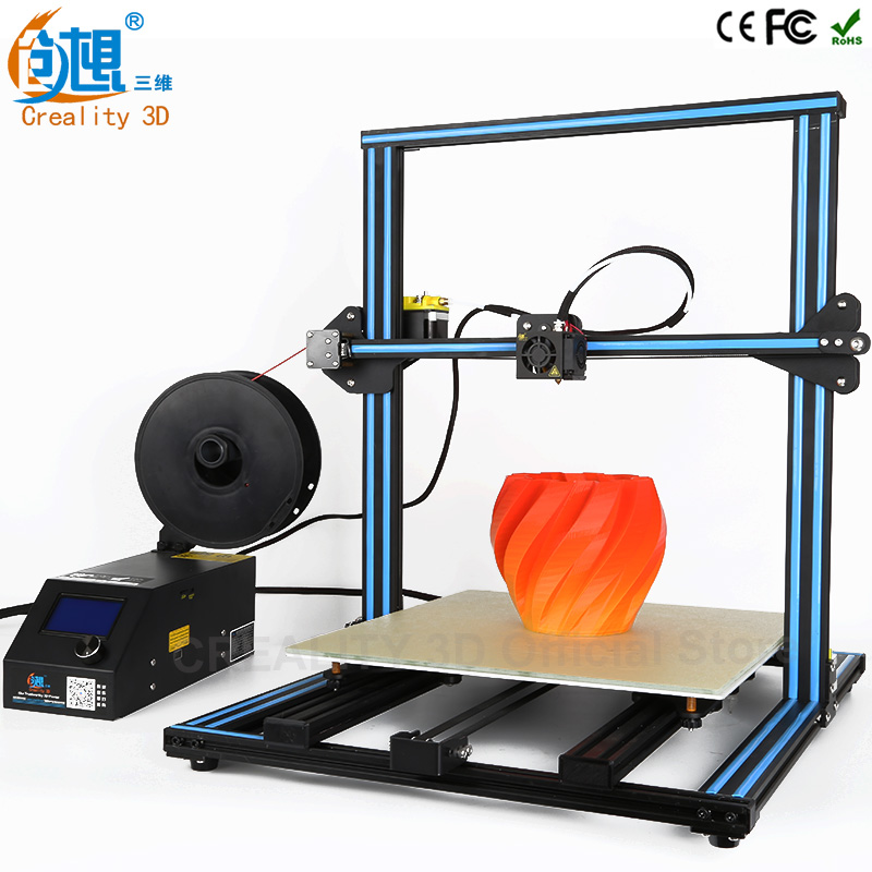CREALITY 3D Printer CR-10 Large Print Size 500*500*500mm Full Metal 3D Printer Kit Easy And Quick Build With filaments Gift 2017 easy build 3d printer cr 10 large print size 500 500 500mm with filaments hotbed sd card tools as a gift creality 3d