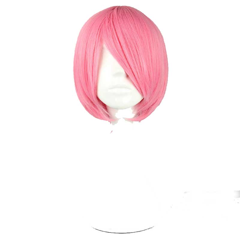 Your Style Short Straight Bob Style Cosplay Hair Wigs Women Mens for Party Costume Pink Silver Red Orange High Temperature Fiber