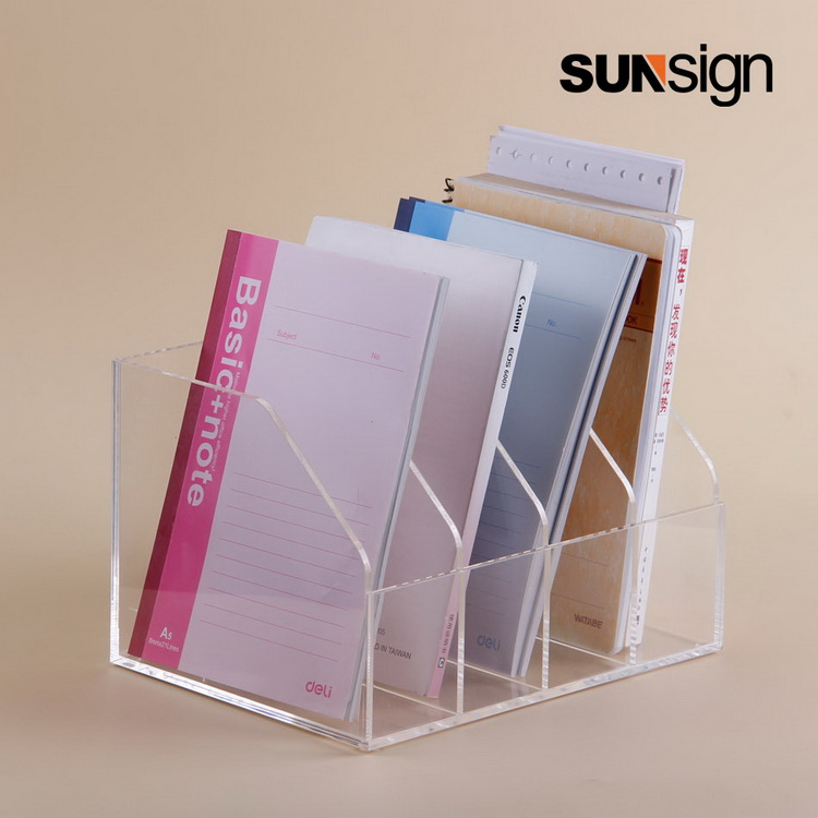 Acrylic Brochure Holder with 4 slots A5 Literature Display Brochure Holder a4 4 layer half page brochure holder book data file holder display rack acrylic data file brochure display stand