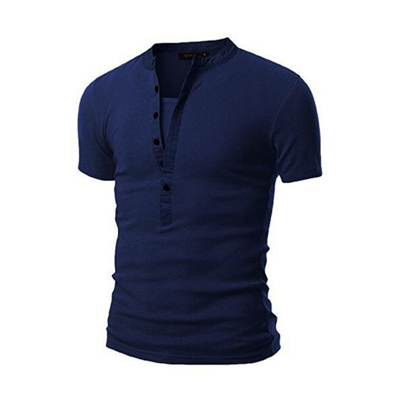 new arrival tee shirt men t shirt homme 2016 summer fashion v neck short sleeve henley shirt. Black Bedroom Furniture Sets. Home Design Ideas