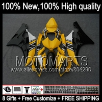 Body Body Yellow Black For YAMAHA YZFR6 06 07 YZF 600 YZF R 6 06 07