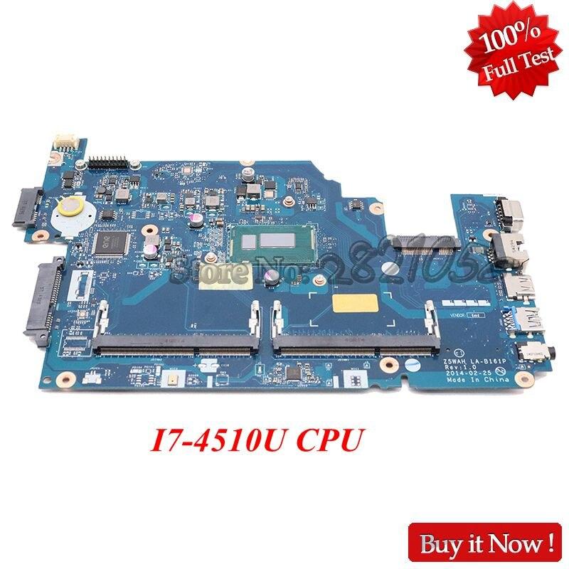 NOKOTION Z5WAH LA-B161P laptop motherboard para Acer aspire E5-531 E5-571 E5-571P NBML811005 NB. ML811.005 SR1EB I7-4510U DDR3L