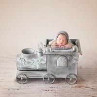 Новорожденный ребенок Фотография Железный грузовик реквизит bebe fotografia аксессуары для маленьких мальчиков и девочек фотосессия Вождение по