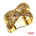 DC1989 Romantic Women Wedding Cocktail Rings Gold Rhodium Plated Simulated Cubic Zirconia Bridal Wedding Ring Lead Free Gifts