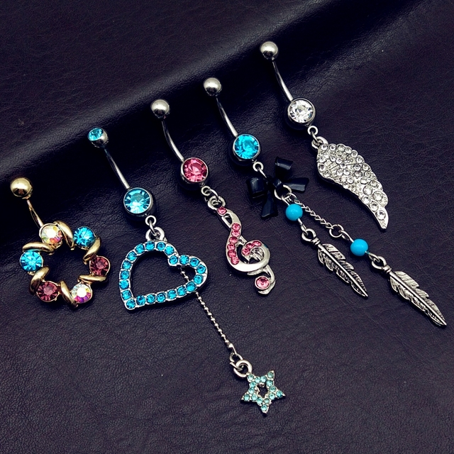 5pcs Mix Vintage Blue Wings...