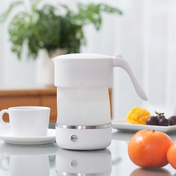 Pink Mini Foldable Portable Travel Kettle Electric Kettle Automatic Power-off Stainless Steel Chassis Chaleira Eletrica