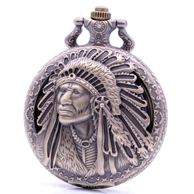 Antique Ancient Quartz Pocket Watch Analog Pendant Necklace Chain Mens Womens Wa