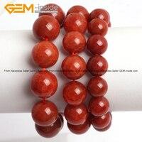 Czerwień naturalna Crackle Agaty Energy Biżuteria Mody Bransoletki 12-16mm 7 inch DIY FreeShipping Hurtownie Gem-wewnątrz