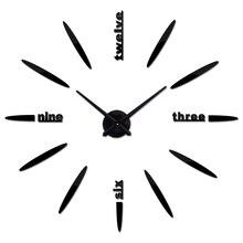 Wall-Clock Quartz-Needle Horloge Home-Decoration Living-Room Acrylicmirror Large Hot-Sale