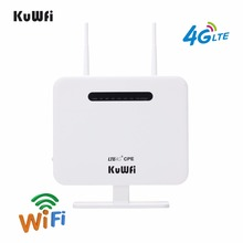 Unlocked 4G LTE Wifi Router RJ45 LAN Port Support 4G SIM Card Solt 150Mbps Portable Wireless Router With External Antennas
