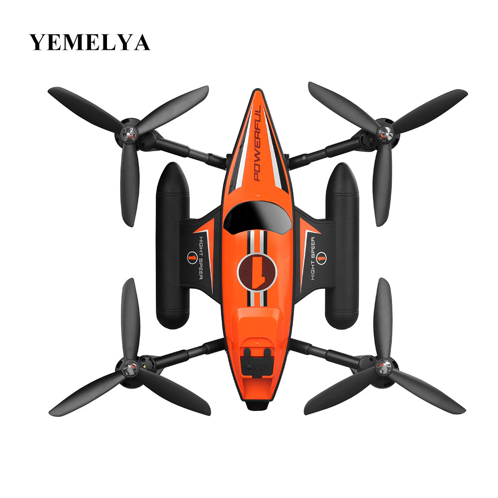Q353 Aeroamphibious Air Land Sea Mode 3 in 1 Headless Mode 2.4G RC Quadcopter RTF Headless Mode One Key Return RC Quadcopter