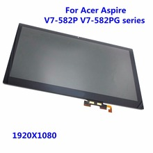 "15,6 ""lcd display b156han02.1 lp156wf4 spb1 touch panel montage bildschirm + digitizer 1920×1080 für acer aspire v7-582p v7-582pg"