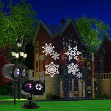 Double Drum LED Stage Light Gypsophila Red Blue Laser Patterns Projection Lamp