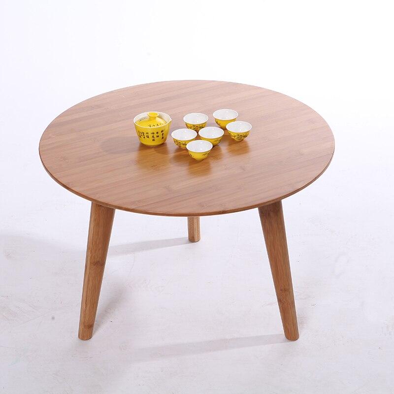 Wood Minimalist Bedroom Living Room Coffee Table Carved