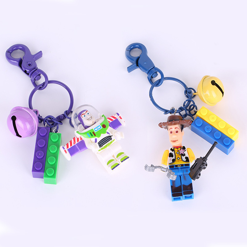 New 2019 Disney Toy Story 4 Pocket Keychain WOODY BUZZ LIGHTYEAR Alien Vinyl Action Figures Collectible Model Toys For Children