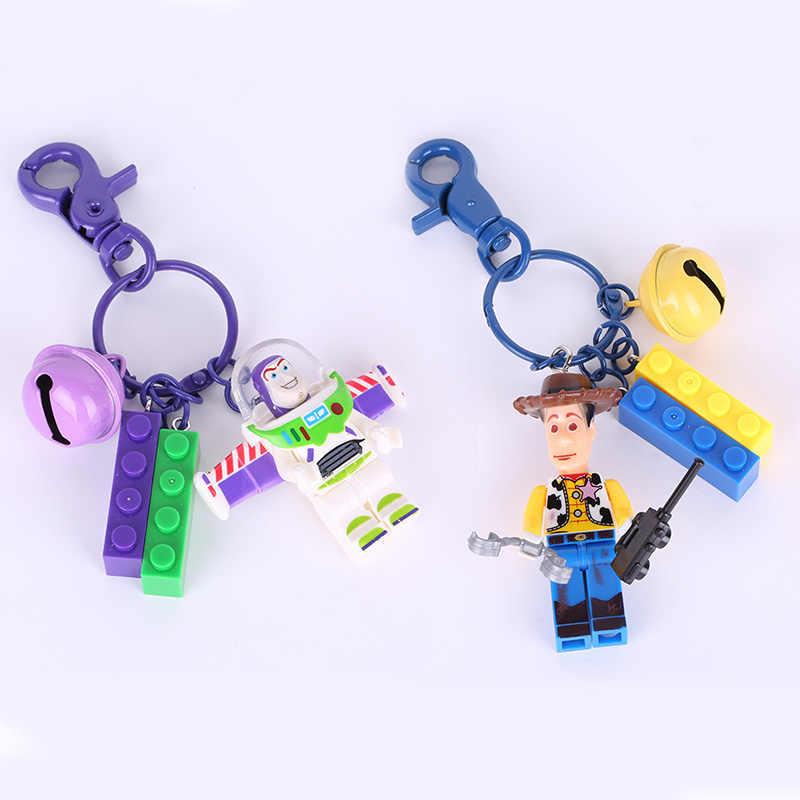 Novo 2019 Bolso 4 Disney Toy Story WOODY BUZZ LIGHTYEAR Keychain Alienígena Vinil Figuras de Ação Colecionáveis Brinquedos Modelo para As Crianças