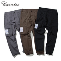 New Spring Autumn Large Size 5XL Japanese Korean Male Harem Pants Pocket Overalls Loose Pocket Trousers
