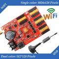 HD-W63 USB + Wifi cartão de controle de P10 LEVOU módulo de tela, Single & Dual Color display led sistema de controle