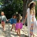 Длинное платье летом пляж туника Embroiderry Хлопок Свободные Платья макси Хиппи шик Люди Лето сексуальная Халаты винтаж женская одежда