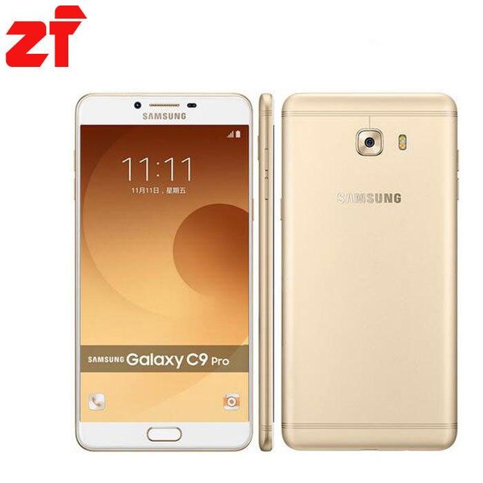 Новый Оригинальный <font><b>Samsung</b></font> Galaxy C9 Pro C9000 6 ГБ RAM 64 ГБ ROM LTE Окта ядро 16MP Камера 6&#8221;inch 4000 мАч Батарея телефон