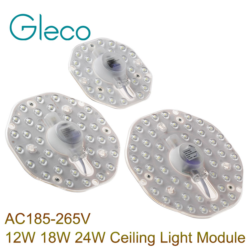NEW AC185-265V LED Ceiling Module light 12W 18W 24W LED Replace Ceiling Lamp Lighting Source Pure White zy 18w 1900lm 6500k 36 led white light round ceiling lamp source module white 85 265v 2 pcs