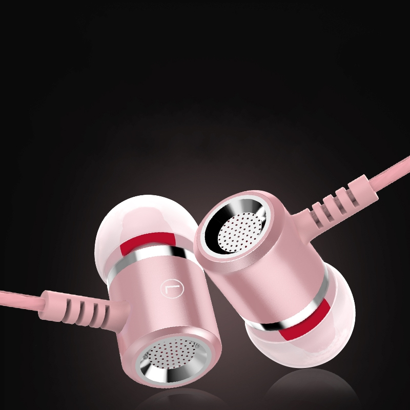 Új fém fülhallgató fejhallgató 3,5 mm-es sztereó basszus - Hordozható audió és videó