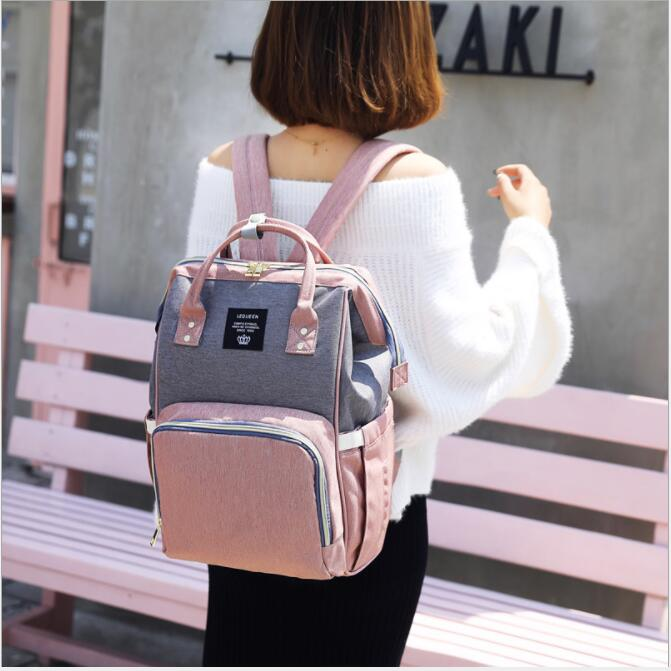 Lequeen Mummy Backpacks Multifunctional Baby Diaper Bags Mommy  Nappy Nursing camouflage Maternity Backpacks LMPB49