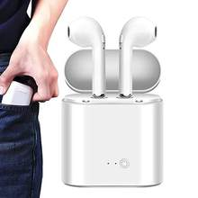 I7S TWS Bluetooth Earphones Portable Wireless Earbuds With Charging Box mini bluetooth headsets Universal type TWS for phone pc(China)