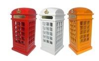 Red British English London Telephone Booth Bank Coin Bank Saving Pot Piggy Bank