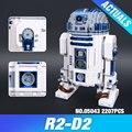 Лепин 05043 Новый 2127 Шт. Подлинная Звезда Война Серии R2-D2 робот Набор из печати Строительные Блоки Кирпичи Развивающие Игрушки 10225