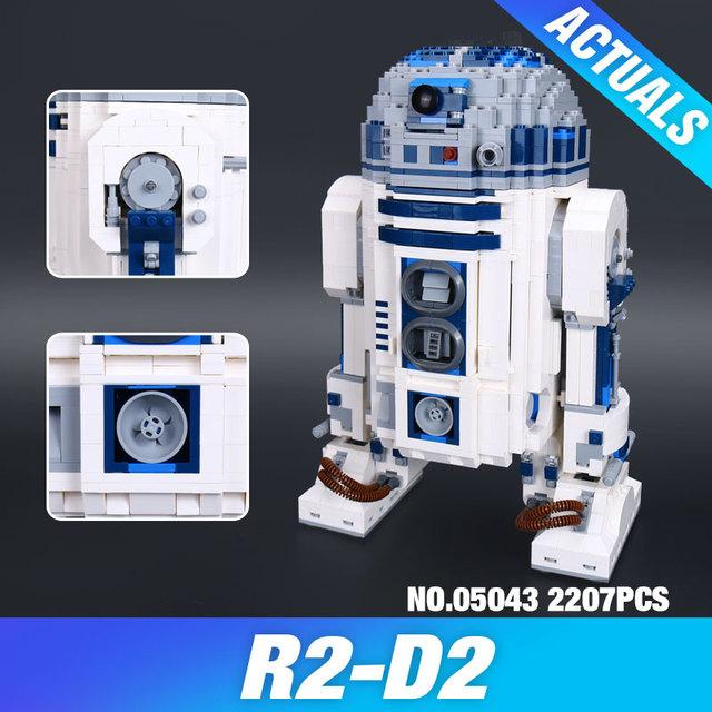 Lepin 05043 Nuevo 2127 Unids Genuino Serie Star El R2-D2 Robot Figura de impresión Bloques de Construcción Ladrillos de Juguetes Educativos 10225