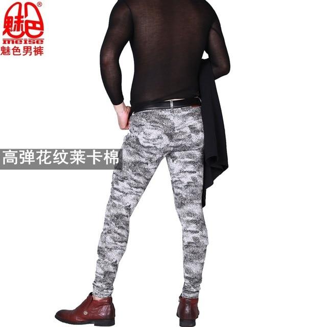 Pantalones Casuales Con Estilo Para Hombres Nuevos Pantalones De Moda Coreana Con Pies Apretados Pantalones De Pierna Elasticos Para Estilista Ropa Para Pareja De Club