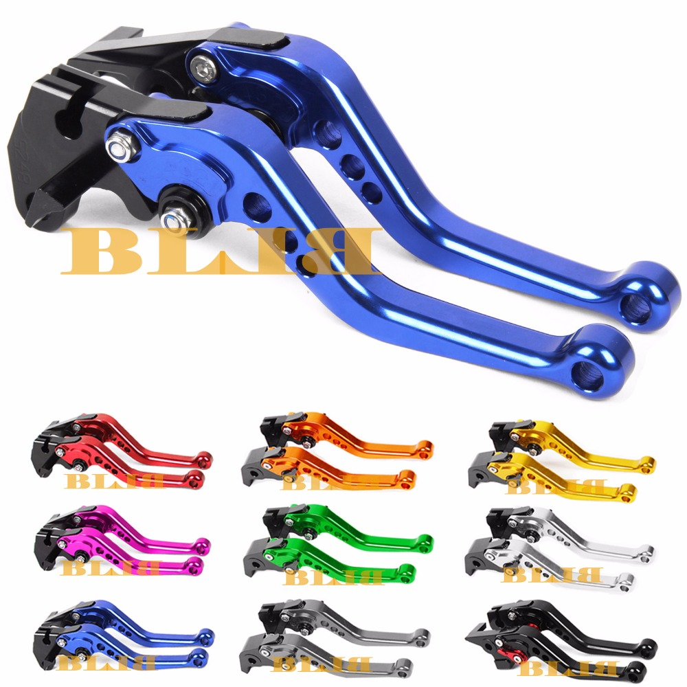 For Yamaha XT660 XT660R XT660X 2004 - 2014 Short Clutch Brake Levers CNC Adjustable 10 Colors 2005 2006 2007 2008 2009 10 11 12 cnc adjustable folding extendable motorcycle brake clutch levers for buell xb9 all models 2003 2004 2005 2006 2007 2008 2009