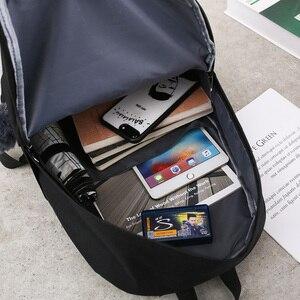 Image 2 - Trend kobiet plecak Korea styl kobiet studentów plecak tornister dla nastolatków dziewcząt nadruk w litery dziewczyny plecak